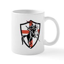 English Knight Riding Horse England Flag Retro Mug