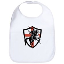 English Knight Riding Horse England Flag Retro Bib