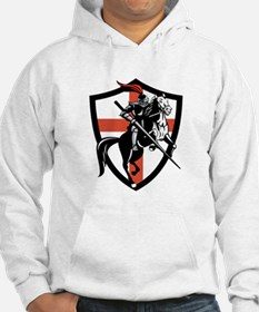 English Knight Riding Horse England Flag Retro Hoo