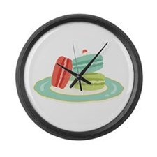 French Macarons Large Wall Clock