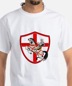 English Knight Rider Horse England Flag Retro T-Sh