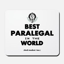 Best Paralegal in the World Mousepad