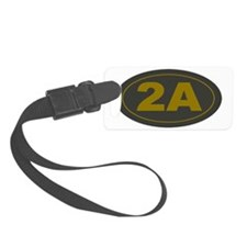 2A Second Amendment Patch Luggage Tag
