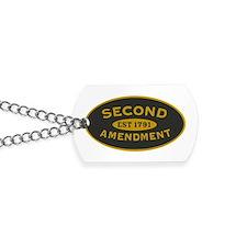 Second Amendment Dog Tags