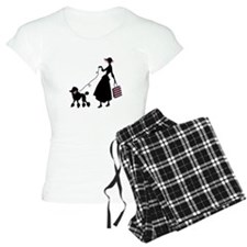French Poodle Shopping Woman Pajamas