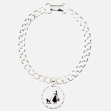 French Poodle Shopping Woman Bracelet