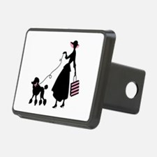 French Poodle Shopping Woman Hitch Cover