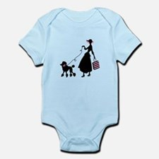 French Poodle Shopping Woman Body Suit