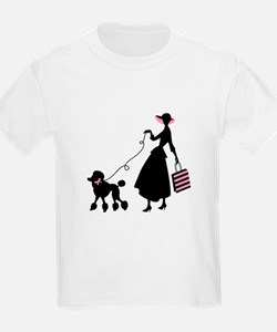 French Poodle Shopping Woman T-Shirt