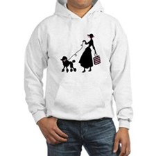 French Poodle Shopping Woman Hoodie