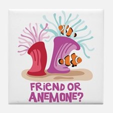 Friend or Anemone? Tile Coaster