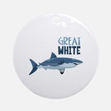 Great White Ornament (Round)