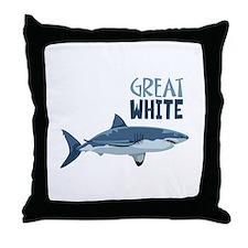 Great White Throw Pillow