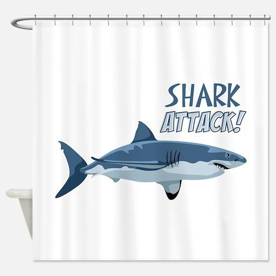 Shark Attack! Shower Curtain