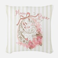 Easter Egg Woven Throw Pillow