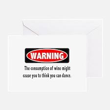 Wine Warning Greeting Card