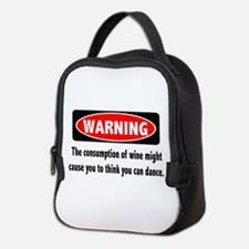Wine Warning Neoprene Lunch Bag