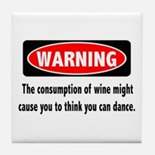 Wine Warning Tile Coaster