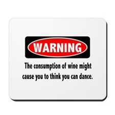 Wine Warning Mousepad