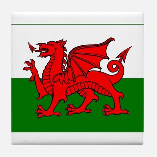 Wales Flag Tile Coaster