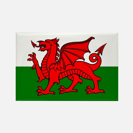 Wales Flag Rectangle Magnet