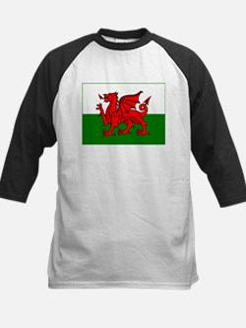 Wales Flag Kids Baseball Jersey