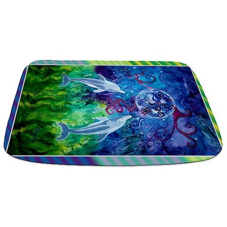 Diagonal Dolphin Gaze Bathmat Bathmat