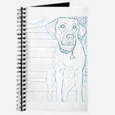 Sketched Yellow Lab Journal