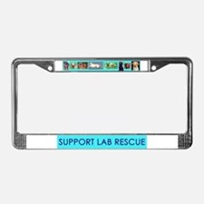 Support Lab Rescue License Plate Frame