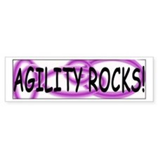 Agility Rocks Bumper Bumper Sticker