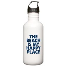 Beach Is My Happy Place Water Bottle