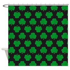 'Irish Shamrocks' Shower Curtain