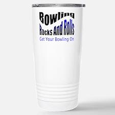 Bowling Rocks And Rolls Travel Mug