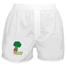 Cute Broccoli Vegetable, Super food Boxer Shorts