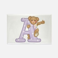 LETTER A Rectangle Magnet