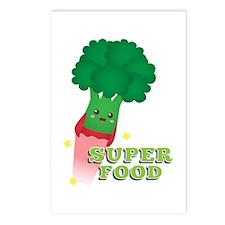 Cute Broccoli Vegetable, Super food Postcards (Pac
