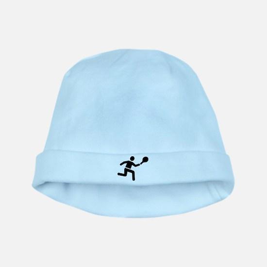 Tennis player logo baby hat