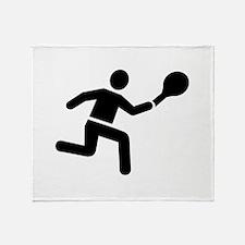 Tennis player logo Throw Blanket