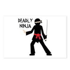 Deadly Ninja Postcards (Package of 8)