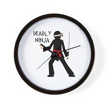 Deadly Ninja Wall Clock