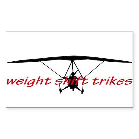 weight shift trike headon Sticker