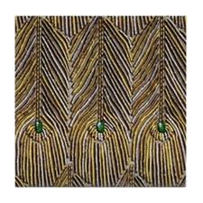 Lady Curzon's Peacock dress Tile Coaster