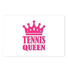 Tennis queen crown Postcards (Package of 8)