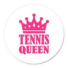 Tennis queen crown Round Car Magnet