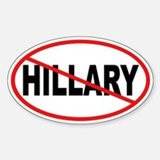 No Hillary Oval Decal