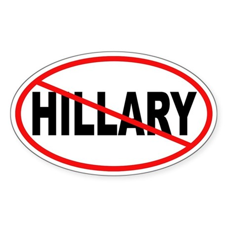 No Hillary Oval Sticker