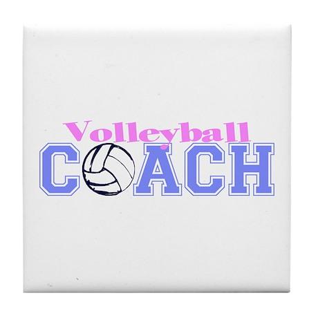 Volleyball Coach Tile Coaster