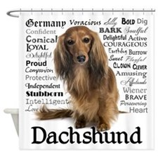 Dachshund Traits Shower Curtain