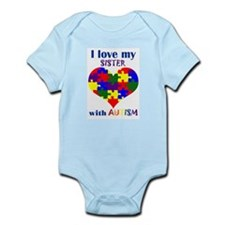 I love my sister with Autism Infant Bodysuit