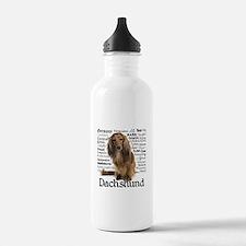 Dachshund Traits Water Bottle